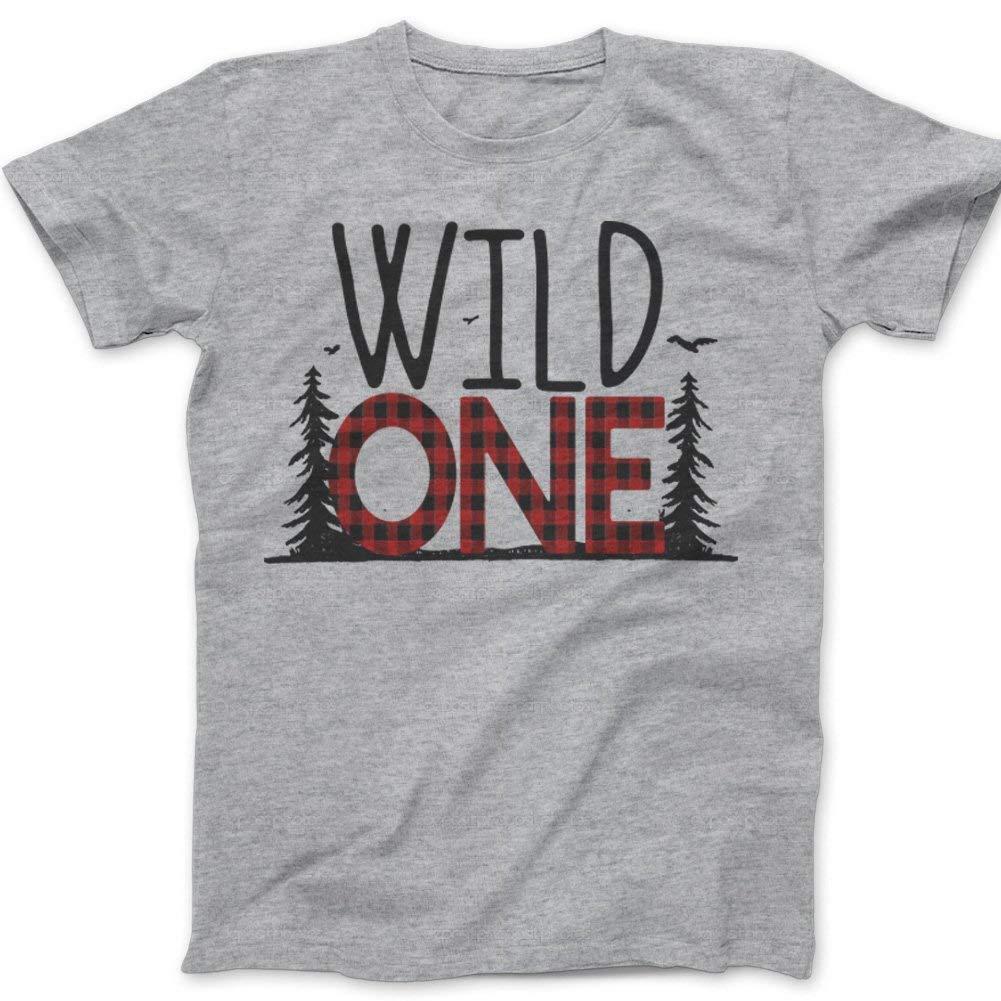 Get Quotations · Zoey s Attic First Birthday Wild One Shirt - Wild One  Buffalo Plaid 1st Birthday Shirt add39ce5a