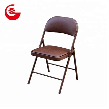Pleasing Factory Modern Simple Backrest Padded Leather Training Folding Metal Chair Buy Folding Metal Chair Metal Chair Modern Leather Metal Chair Product On Lamtechconsult Wood Chair Design Ideas Lamtechconsultcom