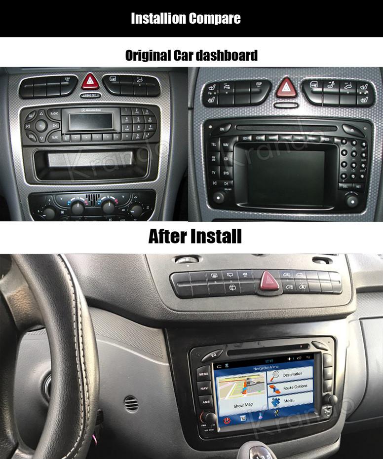 krando android 7 1 car radio for mercedes w203 2000 2005 navigation dvd player multimedia wifi. Black Bedroom Furniture Sets. Home Design Ideas