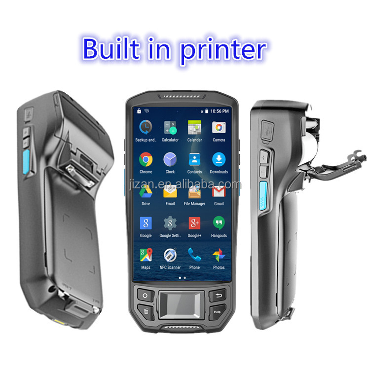 4G WIFI android rfid reader wireless meter reading device handheld data terminal industrial pda with built in printer