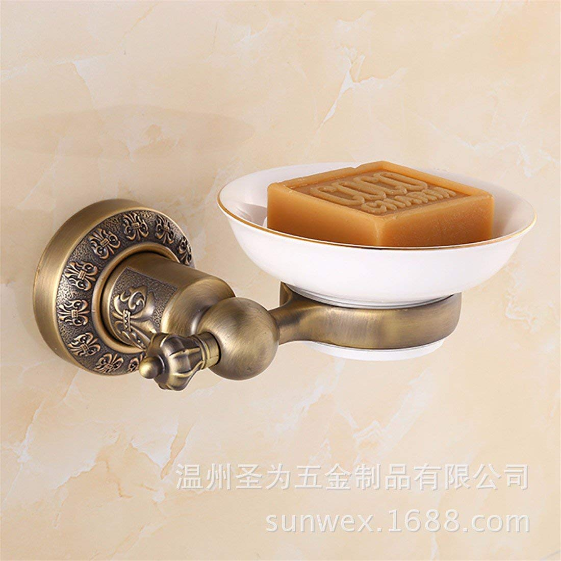 LAONA European style antique bronze carving, zinc alloy bathroom fittings, towel bar, toilet paper rack,Soap dish B