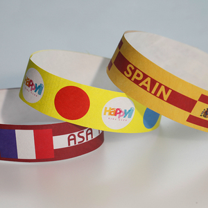 YUEYI Non-Transferable one-off paper festival event tyvek wristbands with series number Bracelet for paper wristbands