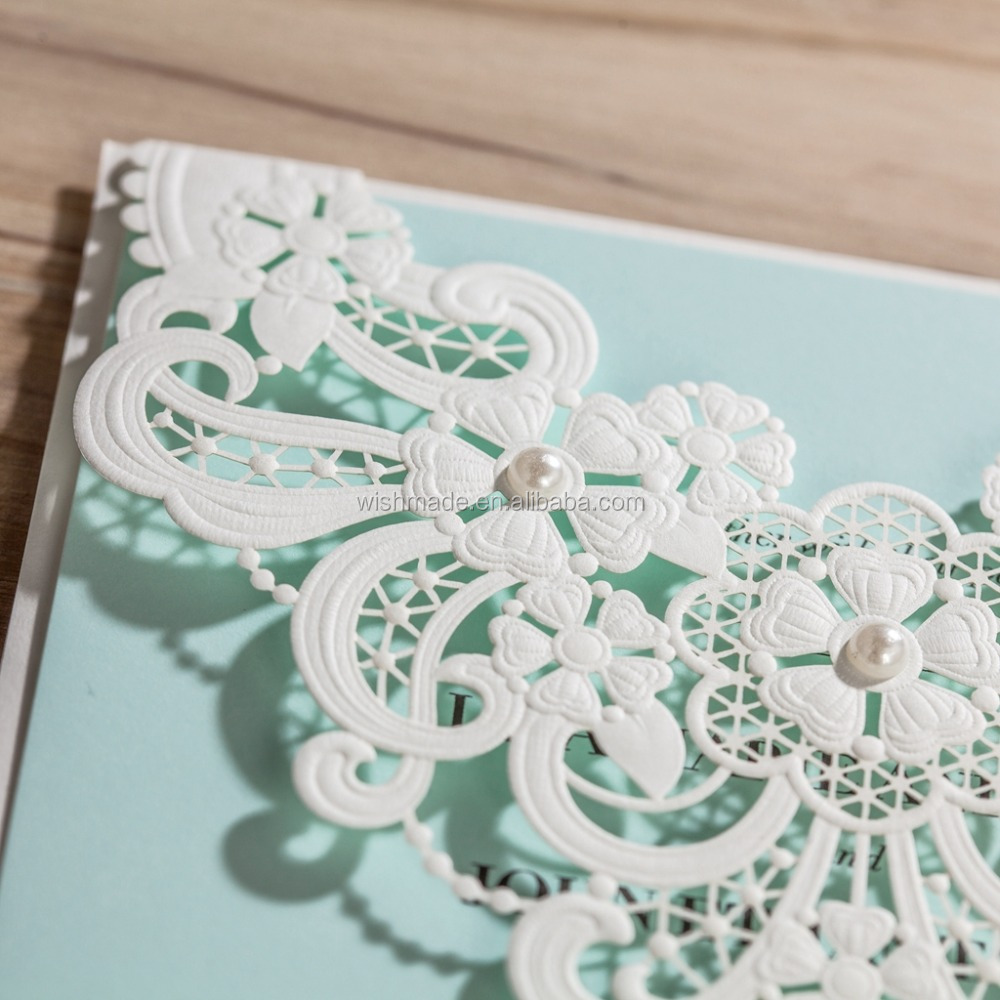 unique luxury laser cut box wedding/ birthday greeting invitation card cw5190