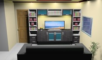 ENTERTAINMENT SYSTEM CABINETS BY SAN JOSE KCM