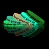 Never Give Up Silicone Wristbands Glow-in-the-dark Silicone Rubber Bracelets