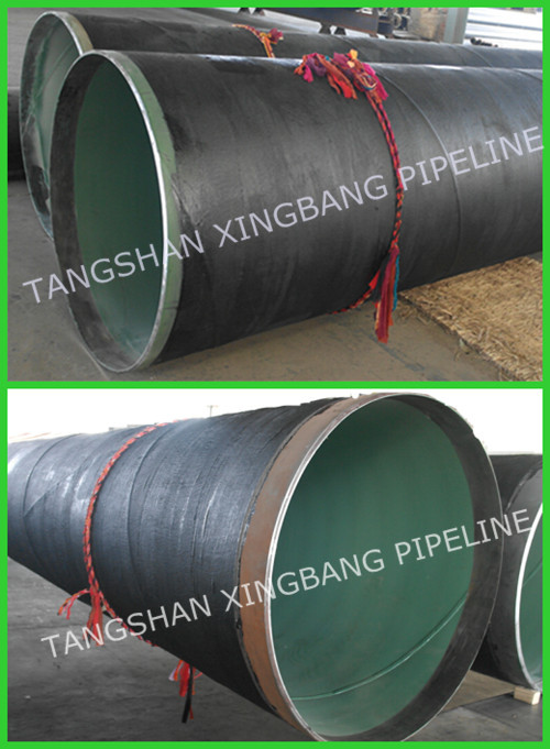 Large diameter steel pipe with fbe linned and pe wrapped