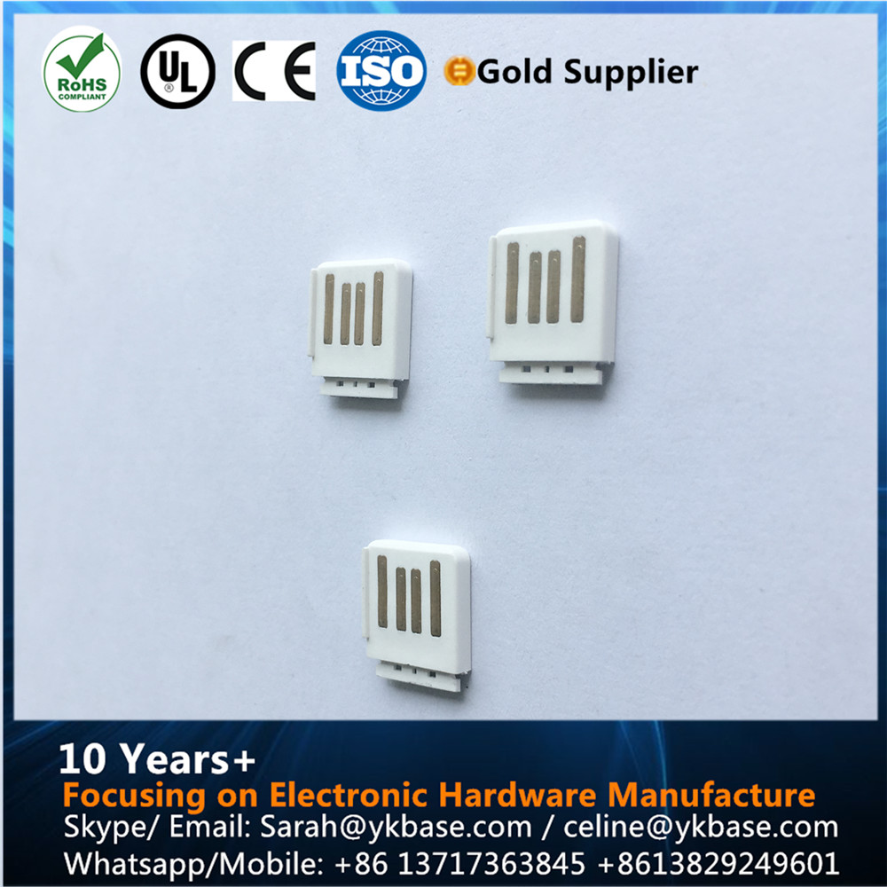 vertical usb connector short micro usb male pcb connector