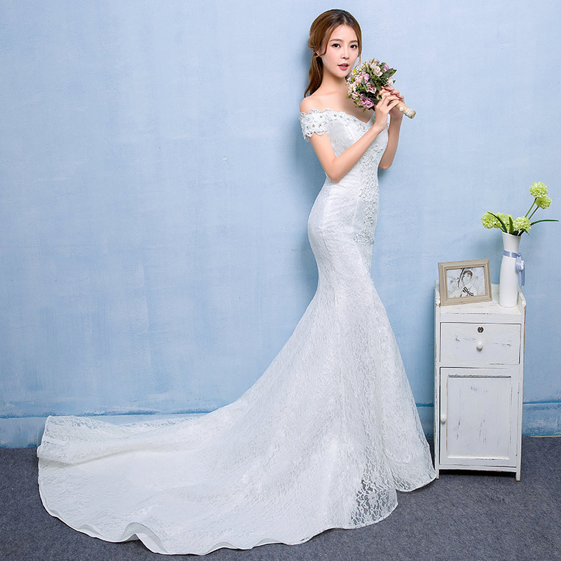 2017 Fashion Off Shoulder Slimming Mermaid Bridal Gown Fish Tail ...