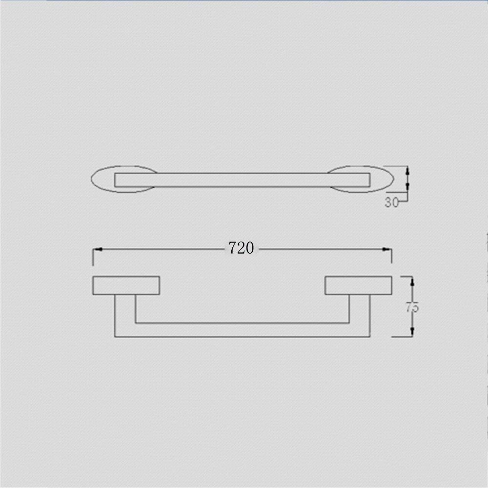DEED Shelf-Hardware Pendant Towel Rack All Copper Towel Bar Single Rod Towel Hanging Accessories Bathroom Hardware Wall Hanging Pole