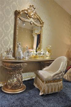 Italienische Möbel Eitelkeit Frisiertisch Spiegel Und Stuhl Gesetzt, Antiken  Luxus Holzschnitzerei Schminktisch/kommode Gesetzt