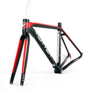 A Chinese 2017 wholesale high quality desert road bike frame with bb68 and Carbon T800 Fork