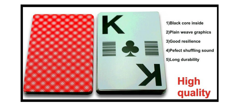 100% Plastic Playing Cards or PVC Playing Cards or Gambling Poker