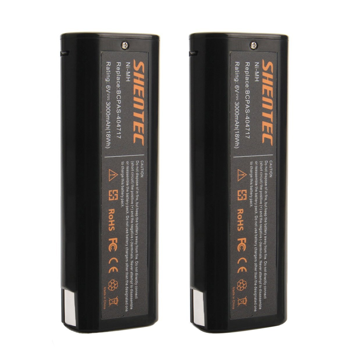 Shentec 2-Pack 3.0Ah 6V Paslode Battery Replace for Paslode 404717 B20544E BCPAS-404717 404400 900400 900420 900421 900600 901000 902000 B20720 CF-325 IM200 F18 IM250 IM250A IM350A PS604N, Ni-MH