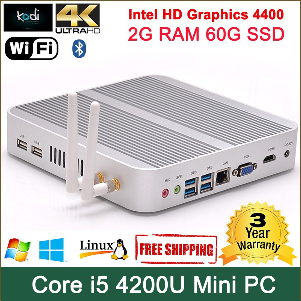 mini pc with pci slot Dual RAM channels mSATA+SATA 4 * USB 3.0 ports, 2 * USB 2.0 ports rj45 LAN ordinateur