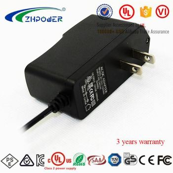 UL Class 2 power supply 5V 3A Charger AC to DC 5Vdc 3000mA 15W switching power supply ZF120A-0503000