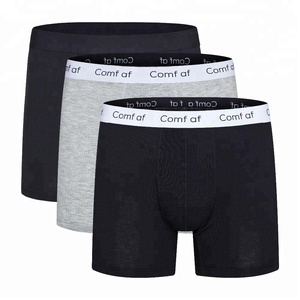 Custom Plus Size Mens Long Leg Boxer Briefs Modal Cotton Sports Underwear Striped Old Man Underwear Factory 3XL 4XL 5XL 6XL