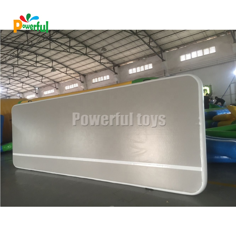 Factory wholesale double dwf airtrack inflatable tumbling gym mat price