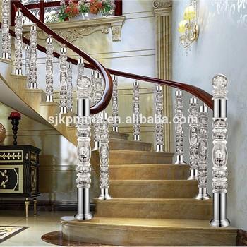 Acrylic Plexiglass Staircase,Acrylic Stair Railing