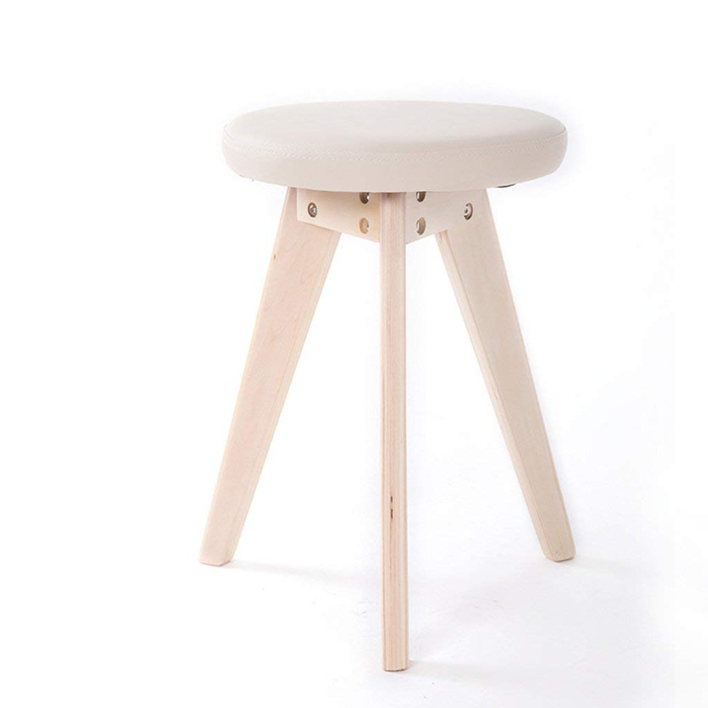 543223c0c264c Get Quotations · Cqq bar chair Home Simple Stool Fashion solid wood stool  artificial leather stool Stool Dressing stool