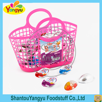 Halal Plastic Basket Egg Shape Colourful Sweet Jelly Bean Candy