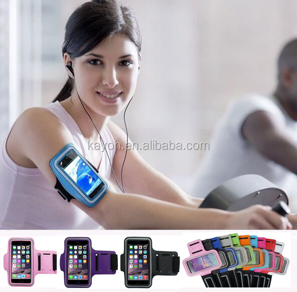 [kayoh] mobile cases neoprene sport armband for iphone running armband case