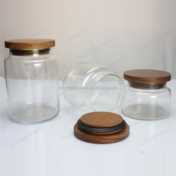 cheap glass canisters with wooden lids airtight mason glass canisters sealed lids buy glass. Black Bedroom Furniture Sets. Home Design Ideas