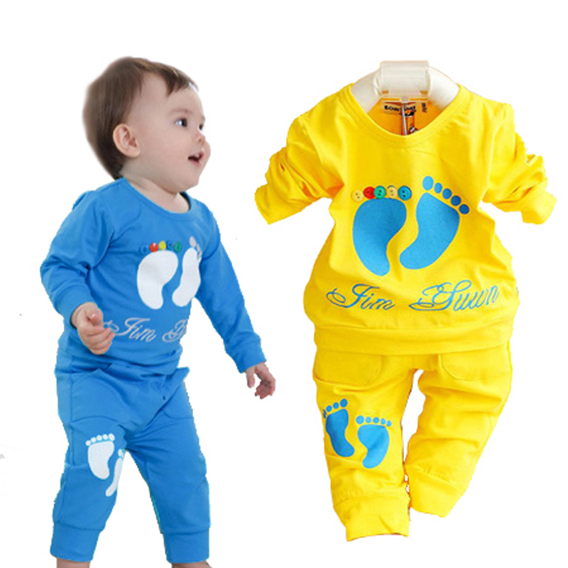 Baby boy clothes casual baby clothing cotton sport tops + boys pants clothing set hot sale children suit high quality
