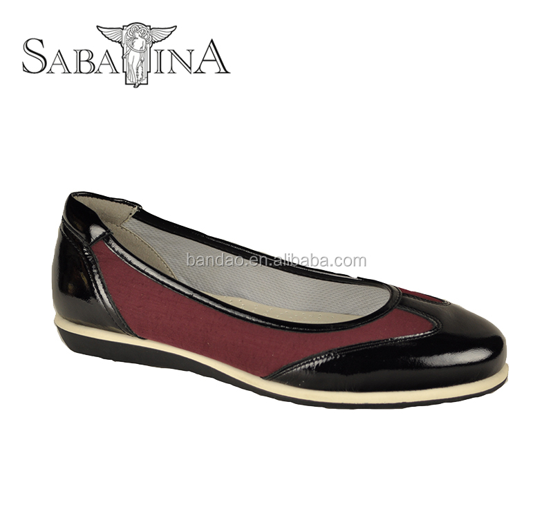 Womens Shoes Flat Leather Textile Slip on Loafers Ladies Flat Shoes Anti-Slip Ballerina