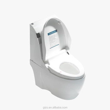 new design flush mechanism p-trap 180mm wall mounted smart toilet