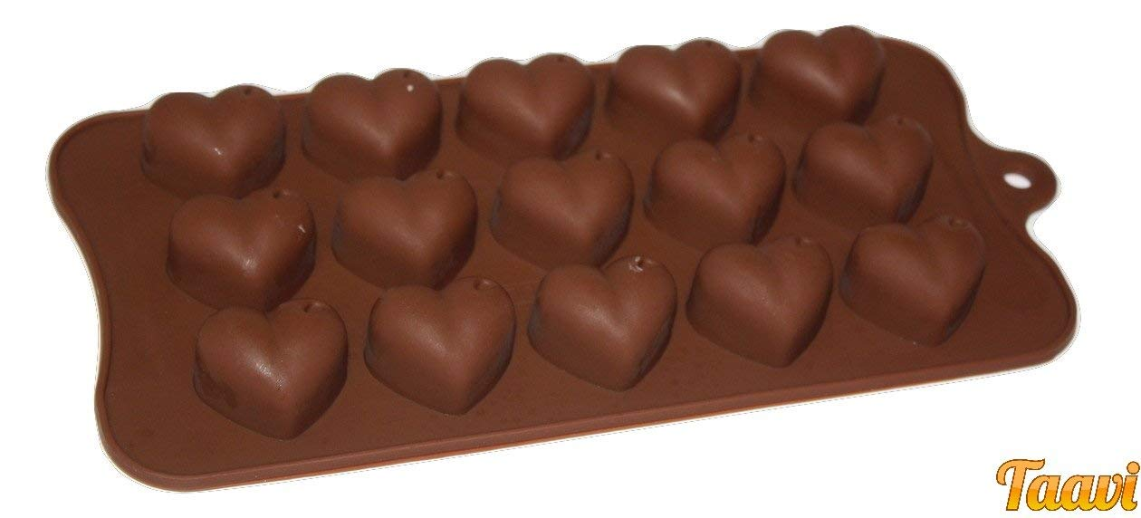 Taavi Heart Shape Silicone Mold (Candy, Chocolates, Ice Cubes, Finger Jello, Wax) (T-821-292)