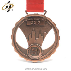 Antique copper die cut 2017 Kodokan Judo award medals with no moq