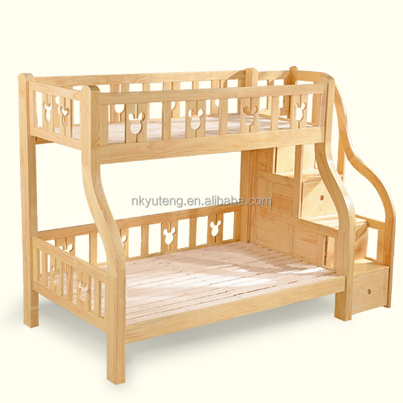 Queen bunk bed 1.2m 1.5m children's bunk bed with storage cabinet