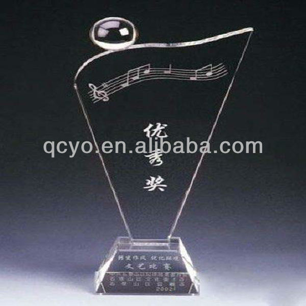 Customized acrylic imitation crystal dancing trophies