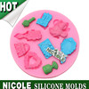 F0721 Nicole factory makeup set silicone fondant modelling tools