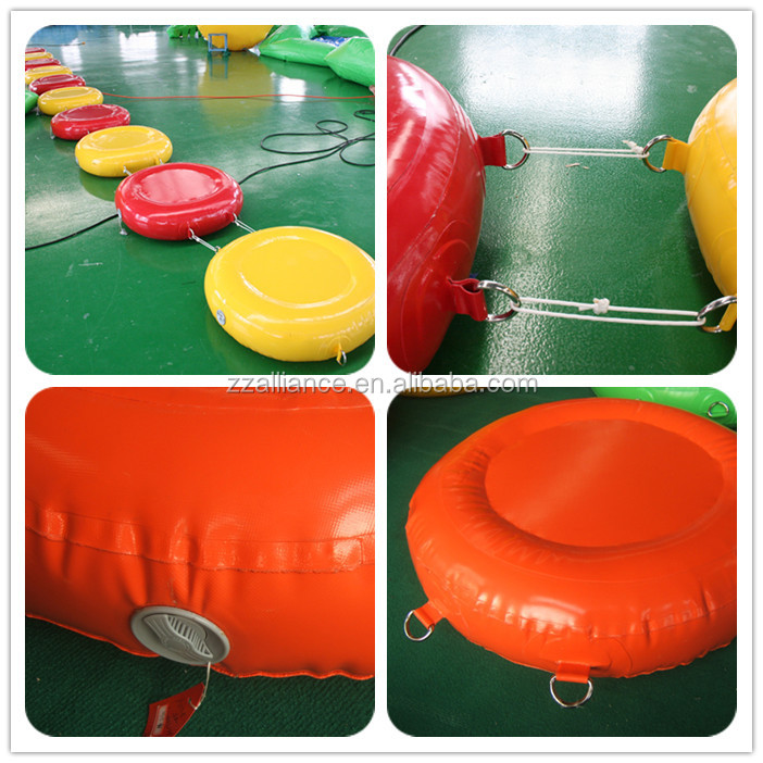 inflatable combination floating island water park floating round island