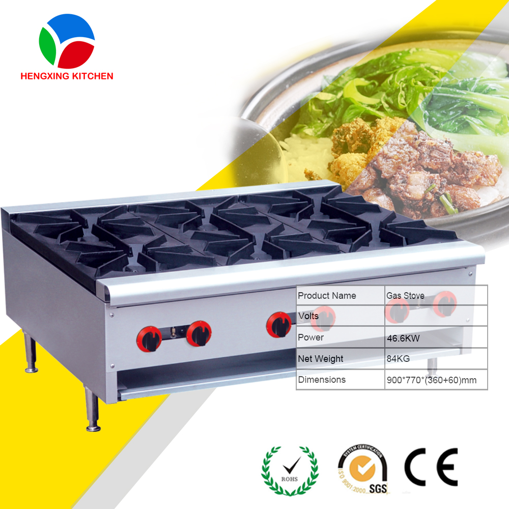 Easy Operate 6 Burners Gas Stove With Oven/indoor Portable Gas Stove/commercial  Portable Gas Stove Burner   Buy Commercial Portable Gas Stove Burner,Indoor  ...