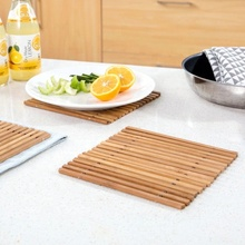 <span class=keywords><strong>Holle</strong></span> Bamboe Coaster Warmte-isolatie <span class=keywords><strong>Pad</strong></span> Anti Verbranden Placemat Placemat Schotel Pannenlap Keuken Accessoires Bamboe Servies