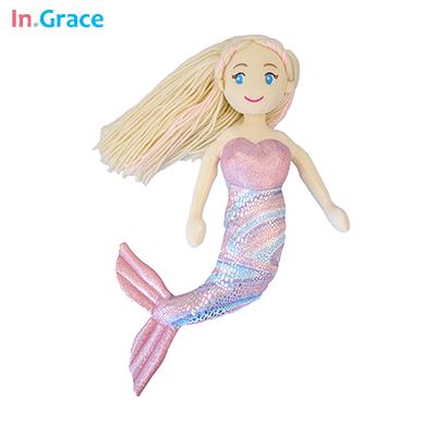Брендовые плюшевые куклы русалки с изогнутым хвостом, игрушки для девочек, супер красивая маленькая Русалочка, 10 цветов, 18 дюймов, детские к...(Китай)