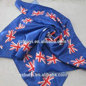 Custom Logo Polyester Cotton Satin Silk Square Bandana