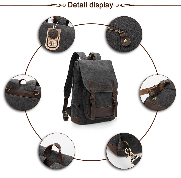 High quality school sports mens laptop bags usb smart backpack / backpack canvas