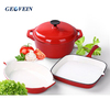 Home&garden enameled cast iron cookware set 3 pcs cooking pots and pans