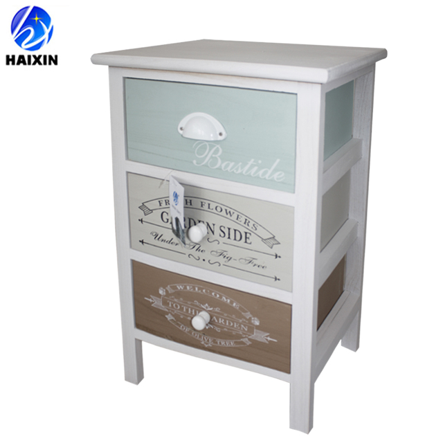 home furniture/small white wood bed side cabinet