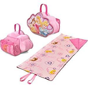 4868ebfe41f Get Quotations · Disney Princess On-The-Go Pillow and Sleeping Bag Set