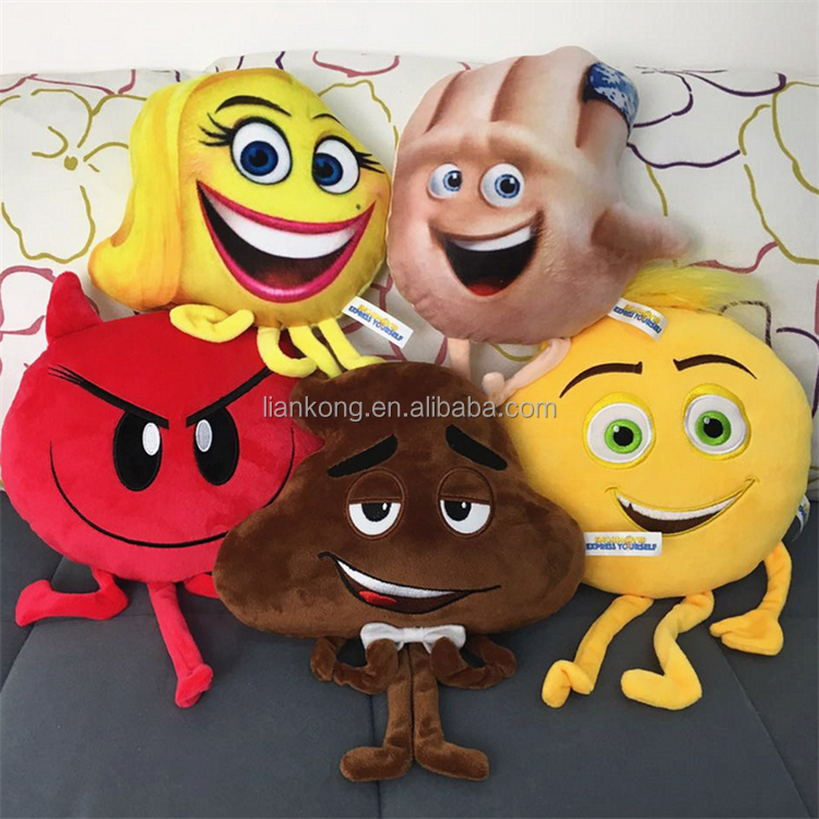 wholesale plush stuffed emoji toys the emoji movie pillow