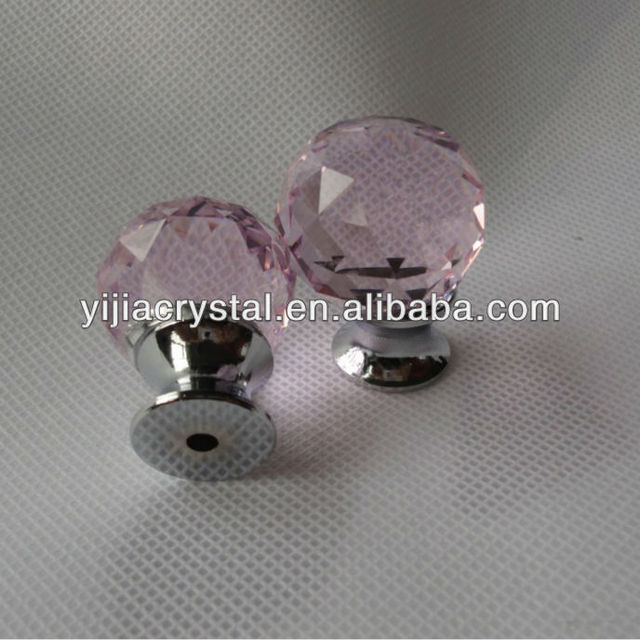 Wholesale Pink Crystal Knobs/glass Door Knos/cabinet Kitchen Knobs