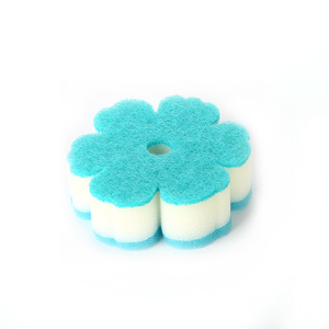 Bath scouring pad sponge with suction cup