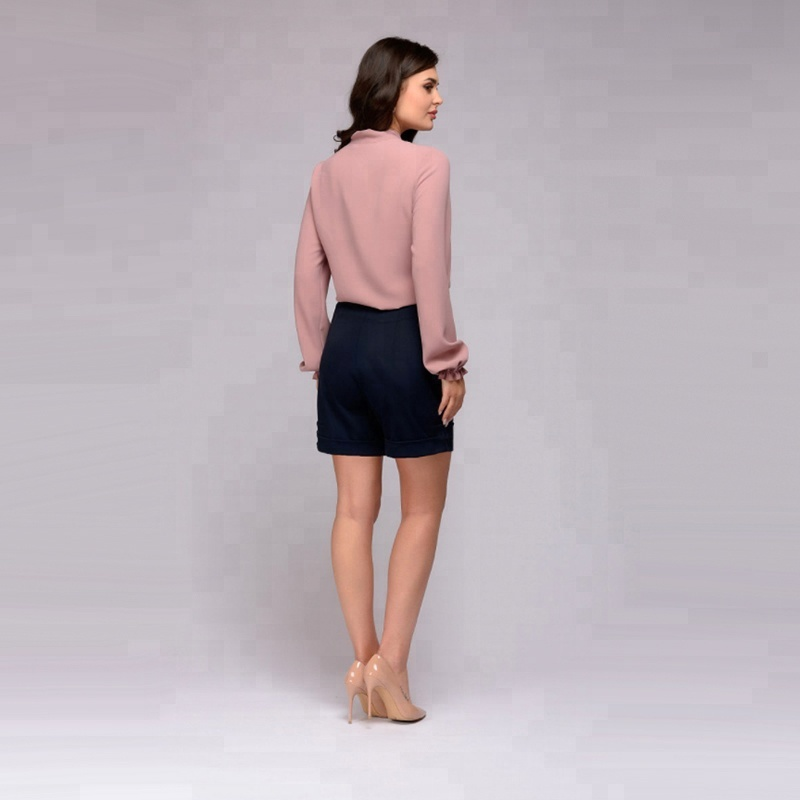 2019 महिलाओं के कपड़े धनुष टाई डिजाइन शिफॉन फैशन blusas femininas