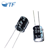 50V 220uF Aluminum Electrolytic capacitors in Av motor air condition toshiba capacitor