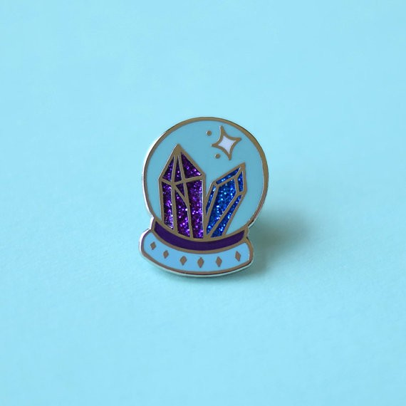 Wholesale Custom Glitter Enamel Pin with Hard Enamel