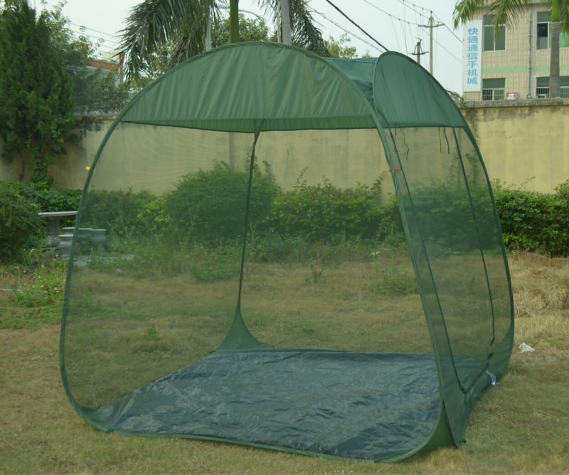 Green color pop up screen room large mosquito net tent - Canopy tent with mosquito net ...